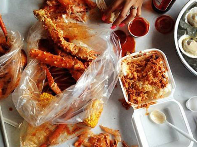the boiling crab, seafood, koreatown