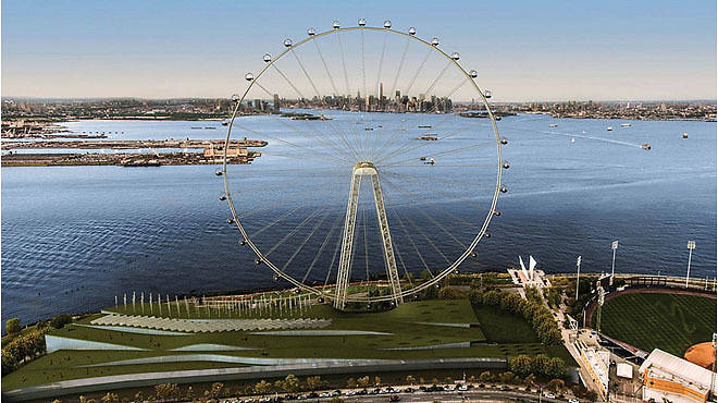 A rendering of the New York Wheel on Staten Island