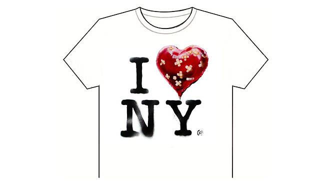The official Banksy New York residency souvenir T shirt