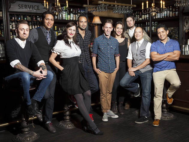 <em>From left to right:</em> Jared Mort, Giovanni Martinez, Naomi Schimek, Julian Cox, Beau du Bois, Serena Herrick, Dave Fernie, Sean Hamilton, Marcos Tello
