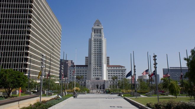 Los Angles City Hall.