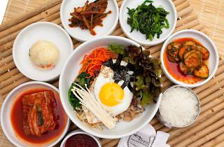 chosun galbee, koreatown, korean bbq, korean, bibimbap