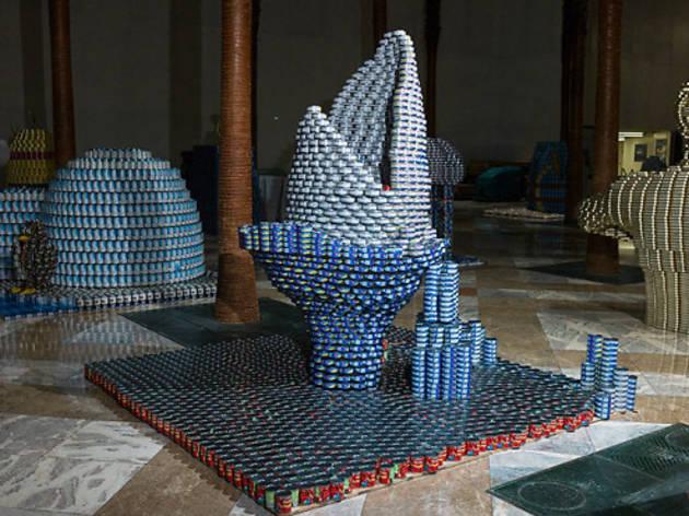 Sharknado sculpture at Canstruction