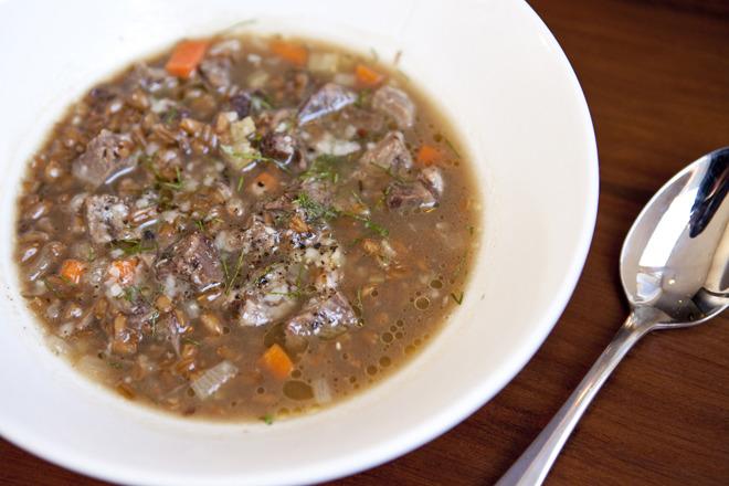 Short-rib soup at Runner & Stone