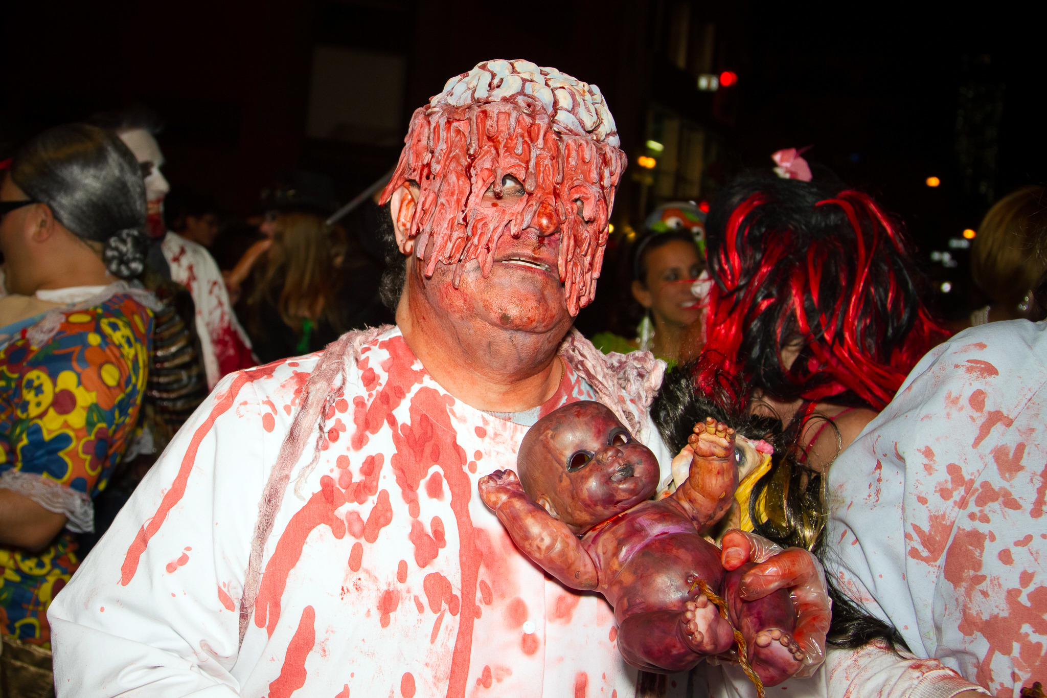 Check out the scariest costumes of the Village Halloween Parade
