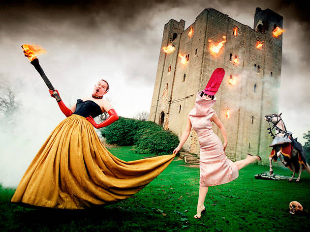 (Alexander McQueen and Isabella Blow: Burning Down The House, 1996 (© David LaChapelle Studio, Inc.))
