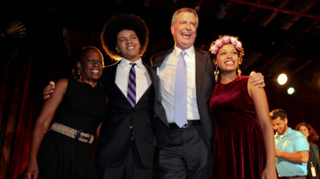 Bill de Blasio and his family
