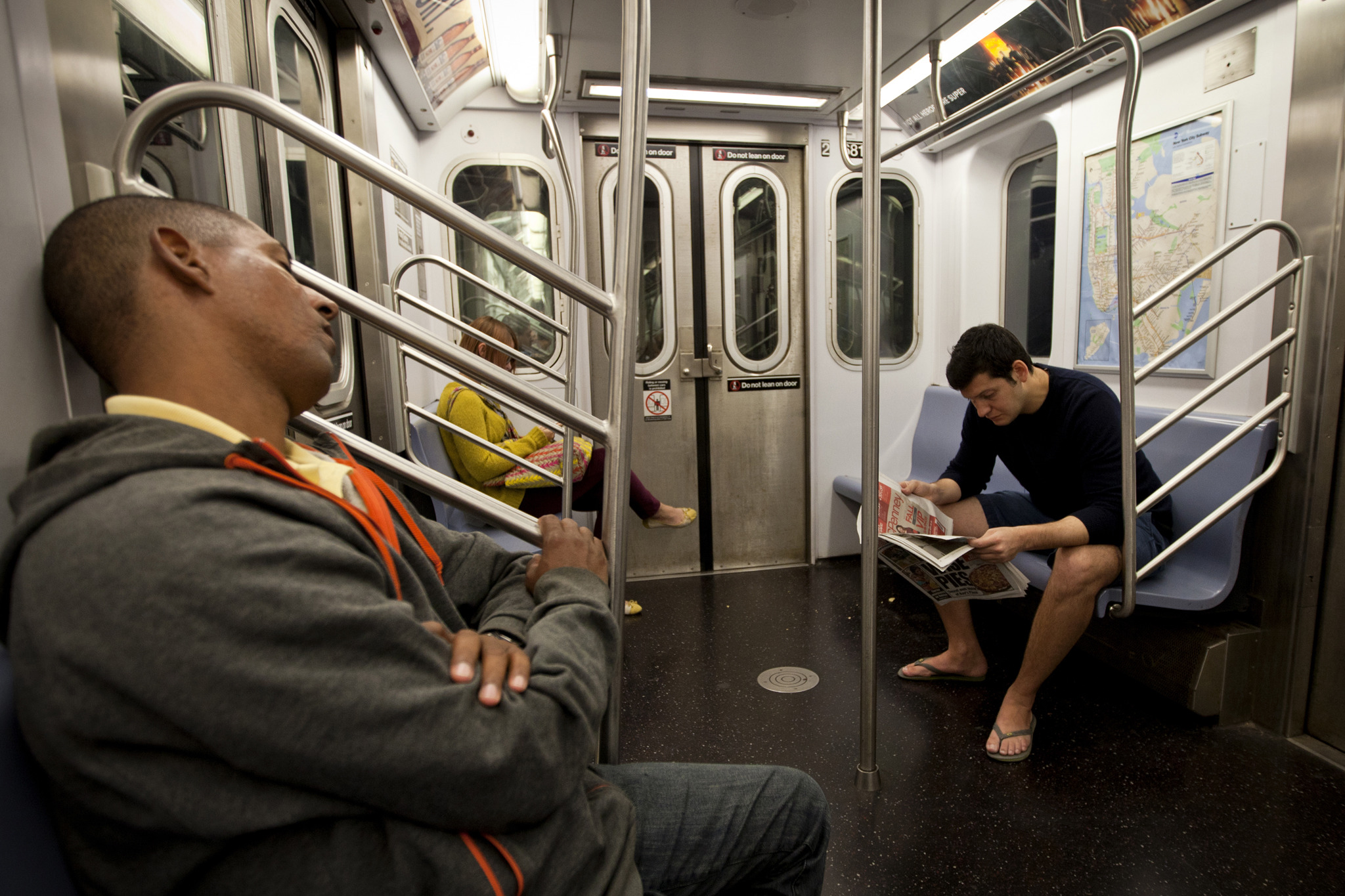 People really need to stop hogging so much space on the subway