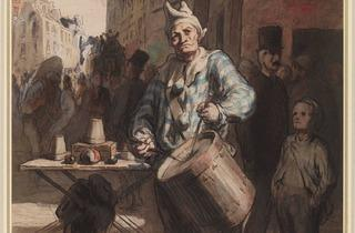 Honoré Daumier ( Clown Playing a Drum, c1865-7)