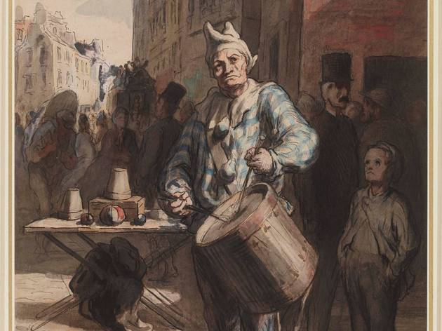 Honoré Daumier ( Clown Playing a Drum, c1865-7)