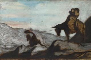 Honoré Daumier (Don Quixote and Sancho Panza, c1855 )