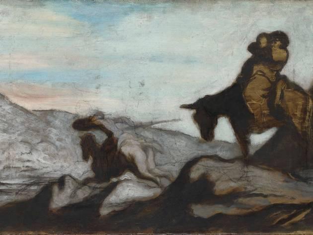Honoré Daumier (Don Quixote and Sancho Panza, c1855 )