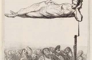 Honoré Daumier (A new aerial suspension (Nouvelle suspension aérienne) 'Actualités', Le Charivari, 7 February 1867)