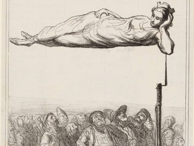 Honoré Daumier (A new aerial suspension (Nouvelle suspension aérienne) 'Actualités', Le Charivari, 7 February 1867)