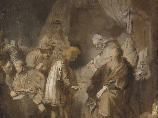 Rembrandt (, Joseph telling his dreams to his parents and his brothers, 1633, )
