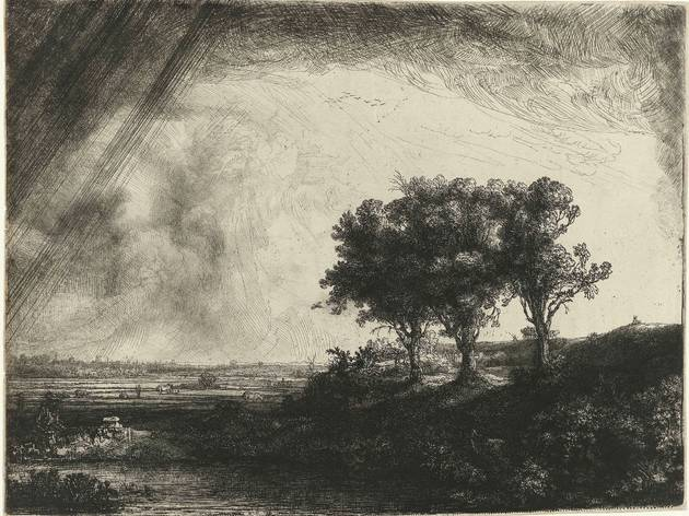 Rembrandt (The Three Trees, 1643)