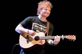 Ed Sheeran performs at Madison Square Garden on November 7, 2013.