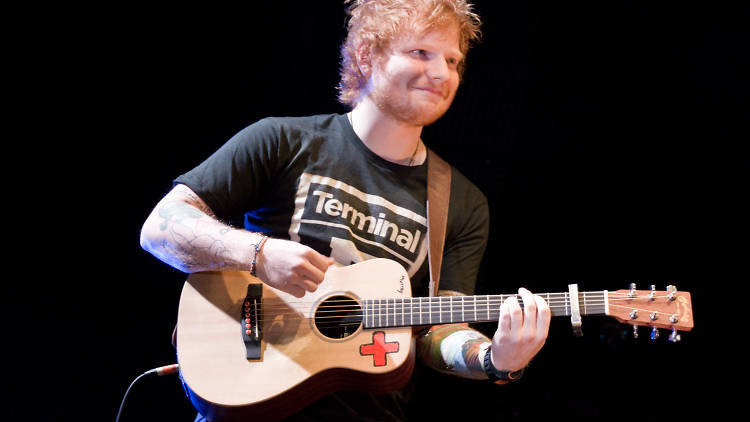 Ed Sheeran performs at Madison Square Garden on November 7, 2013.