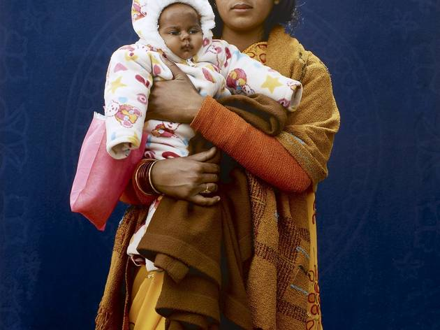 Giles Price ('Kumbh Mela Pilgrim - Mamta Dubey and infant', 2013)