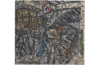 Leon Kossoff, Outside Kilburn Underground Station, 1984