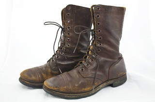 1940s leather work boots, $120 (were $165), at Gentleman's Vintage Clothing Show