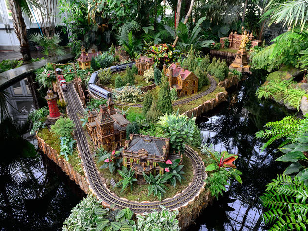 Holiday Train Show 2013 At The New York Botanical Garden. (Photograph:  Filip Wolak)