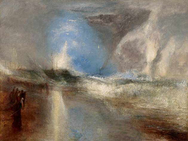 JMW Turner ('Rockets and Blue Lights (Close at Hand) to Warn Steam Boats of Shoal Water' (exhibited 1840), © Sterling and Francine Clark Art Institute, Williamstown, Massachusetts)