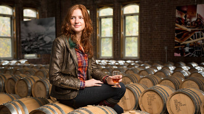 "Nicole Austin, 29, master blender at Kings County Distillery: ""Oh my God, that's filled with liquid gold!"""