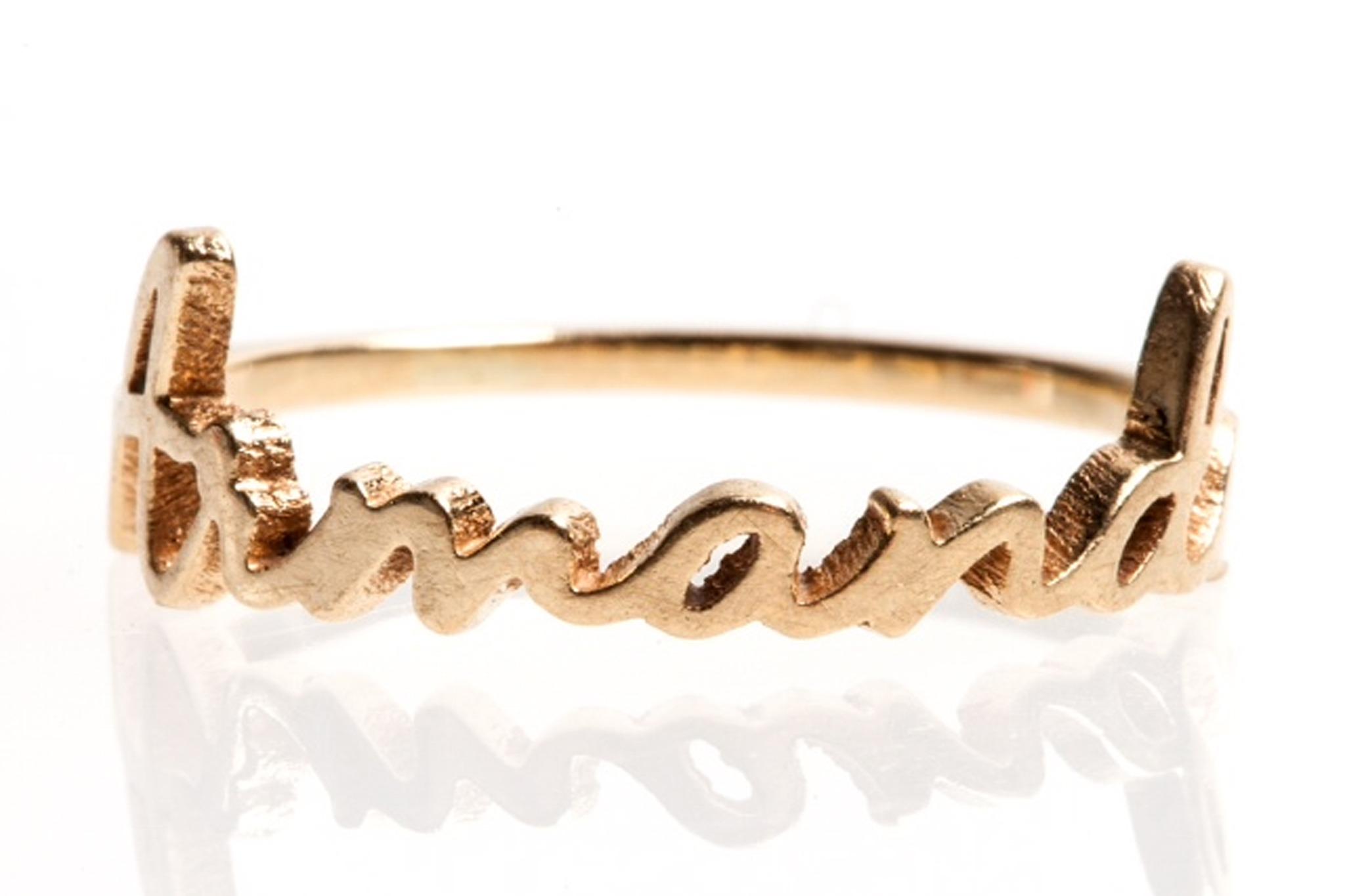 A custom Sarah Richey Signature Ring