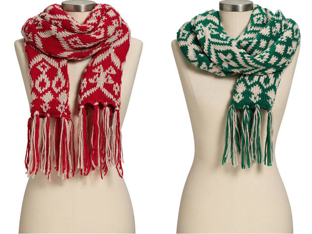 Old Navy Fair Isle sweater scarves, $19 each, at Old Navy, locations throughout the city; visit oldnavy.com