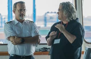 Paul Greengrass directs Tom Hanks on the set of 'Captain Phillips'