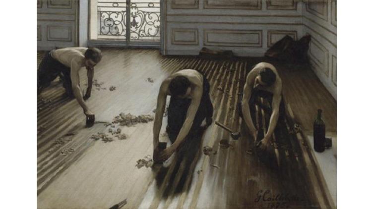 Gustave Caillebotte, 'Les raboteurs de parquet', 1875