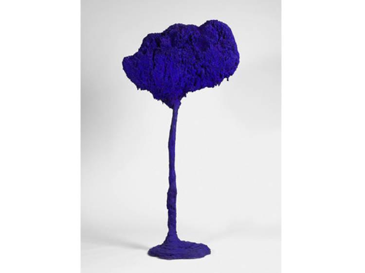 SE 71, l'arbre, grande éponge bleue d'Yves Klein