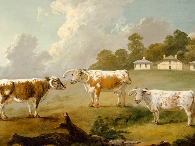 (ulius Caeser Ibbetson, 'Three Long-Horned Cattle at Kenwood', 1797. © English Heritage)