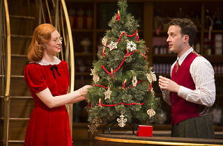 "Deborah Ann Woll and Eddie Kaye Thomas in ""Parfumerie"" at the Wallis Annenberg Center for the Performing Arts"