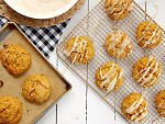 Pumpkin-pecan scones with brown butter glaze from Joy the Baker