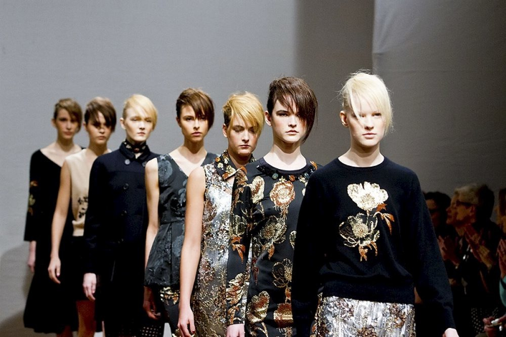 Clements Ribeiro Catwalk for the London Fashion Week AW13