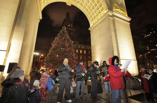 Washington Square Park caroling