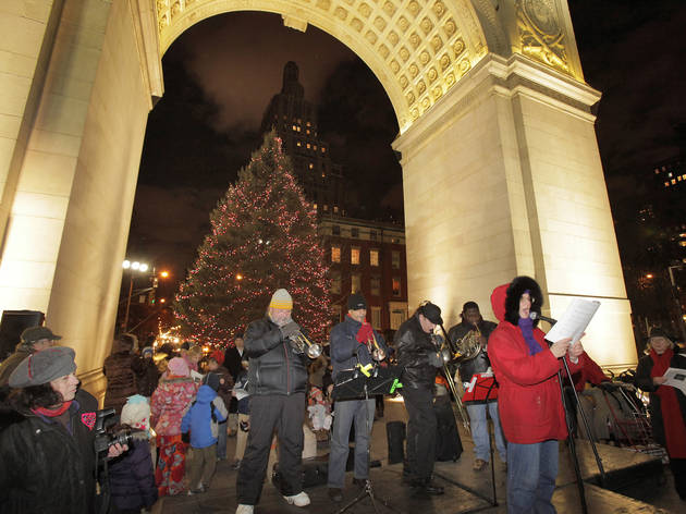 Tree Lighting & Caroling at Washington Square Park