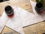 Metallic Leather Tangram Coasters by Project Room for Of A Kind Pop-up market