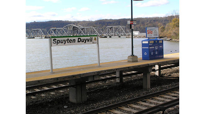 Spuyten Duyvil Station on the Metro-North Hudson Line