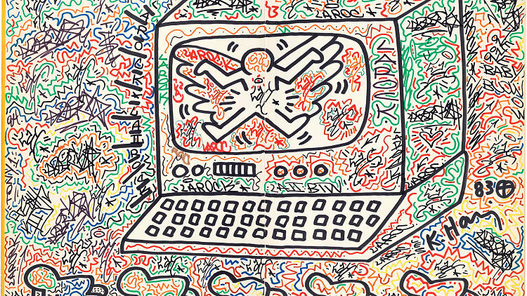 Keith Haring artwork from City as Canvas: New York City Graffiti from the Martin Wong Collection