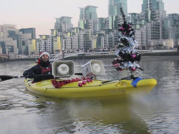 Kayaking London: Big Ben Jingle Bells