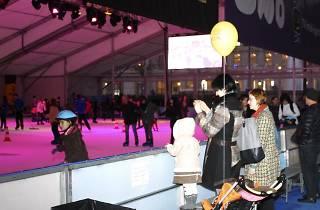 Ice rink at Plaça de Catalunya