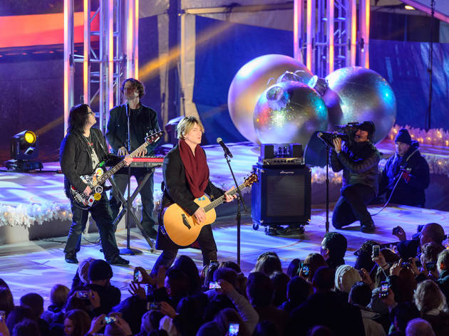 The Goo Goo Dolls performing at the Rockefeller Center Christmas