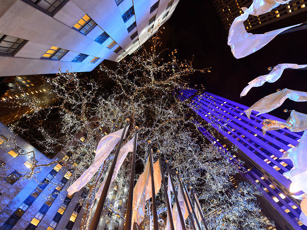 The Christmas Tree is officially up in Rockefeller Center (2015)