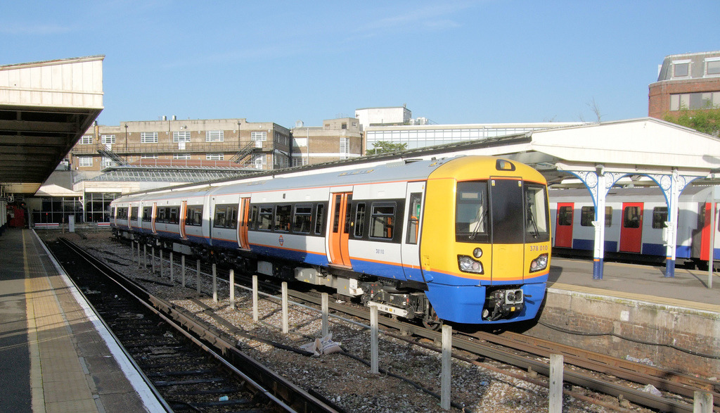 Map of rent prices on the Overground