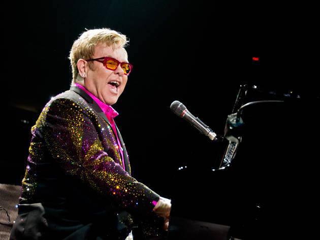 Elton John performs at Madison Square Garden on December 4, 2013.