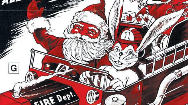 Santa y el conejo de helado