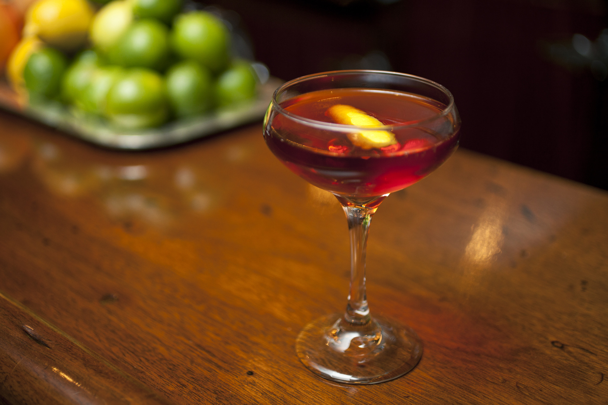 The Boulevardier at the Long Island Bar